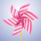 Ветерок «Полосатик», цвет розовый - фото 994981