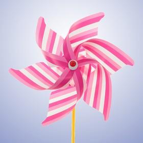 Ветерок «Полосатик», цвет розовый