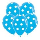 """Шар латексный 12"""" """"Большие кружки"""", пастель, набор 12 шт., цвет голубой"""