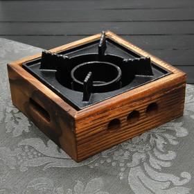 {{photo.Alt    photo.Description    'Подставка для подогрева блюд, 20,5×20,5×6,6 см, с деревянной подставкой'}}