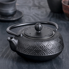 """Чайник с ситом 500 мл """"Гафу"""", цвет черный"""