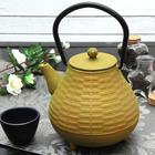 """Чайник с ситом 1 л """"Плетение"""", цвет зеленый"""