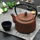 Чайник «Земляничная поляна», 800 мл, с ситом, цвет коричневый - фото 377430