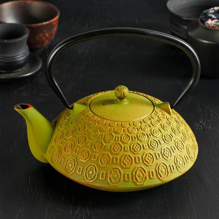 Чайник с ситом 1,2 л «Бурхон», эмалированное покрытие, цвет жёлтый