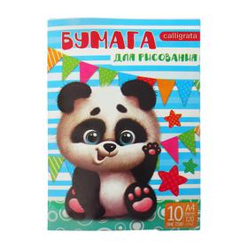 """Папка для рисования А4,10 листов """"Панда"""", плотность 120г/м"""