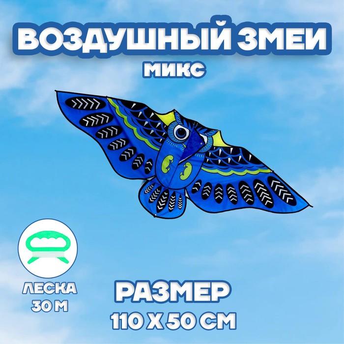 Воздушный змей «Сова», с леской - фото 994599