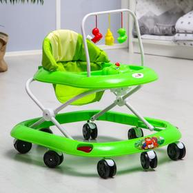 Ходунки «Маленький водитель», 8 колес, муз., зеленый