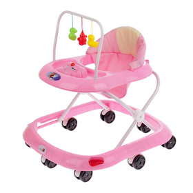 Ходунки «Маленький водитель», 8 колес, муз., розовый
