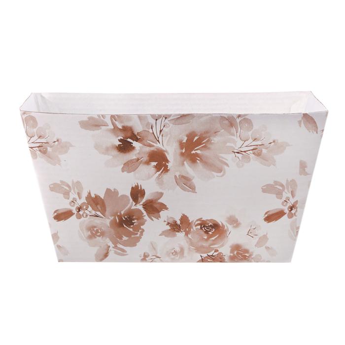 Складная коробка–трапеция «Цветочная нежность», 19.5 × 15 × 10.5 см