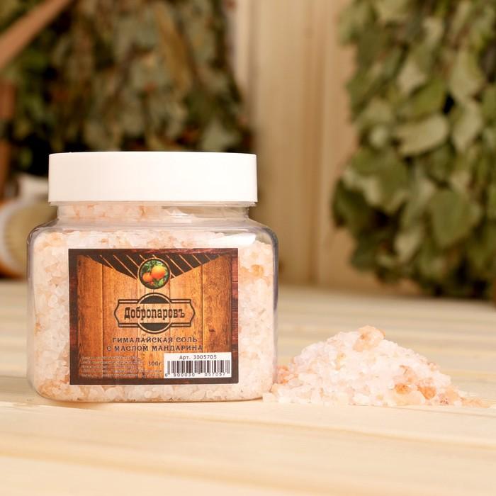 """Гималайская соль """"Добропаровъ"""" с маслом мандарина, красная, 2-5 мм, 300 гр"""