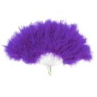 Веер пуховой 30 см, цвет фиолетовый