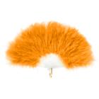 Веер пуховой 30 см, цвет оранжевый