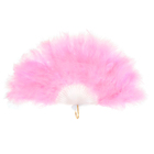 Веер пуховой, 30 см, цвет розовый