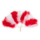 Веер пуховой, 30 см, цвет красно-белый