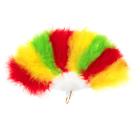 Веер пуховой 30 см, цветной