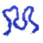 Карнавальный шарф перо 2 метра, 18 грамм, цвет синий