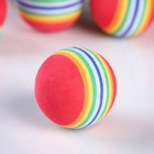 A set of soft Golf balls rainbow, 6 PCs, d=4 cm