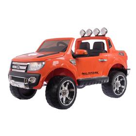 Электромобиль FORD RANGER, цвет оранжевый, EVA колёса, кожаное сиденье