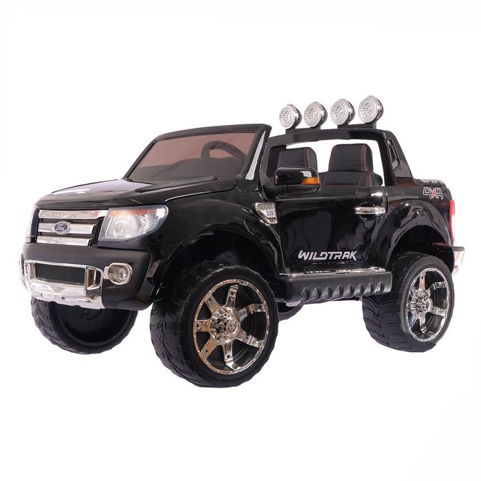 Электромобиль FORD RANGER, цвет чёрный, EVA колёса, кожаное сидение