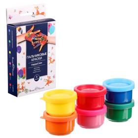Краски пальчиковые набор 6 цветов х 35 мл, BrunoVisconti, в пенале