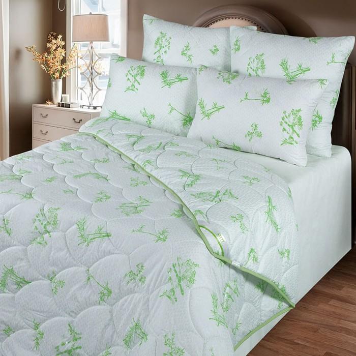 Одеяло обл. 140*205, ОБ/015эк, бамбуковое волокно, ткань глосс-сатин,п/э - фото 105555200