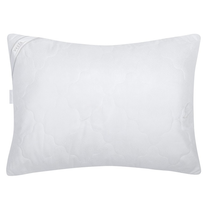 Подушка стёганная 50х70 см, иск. лебяжий пух, ткань глосс-сатин, п/э 100%