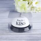 "Звонок настольный ""Ring for a kiss"", 7.5х7.5х6.5 см"