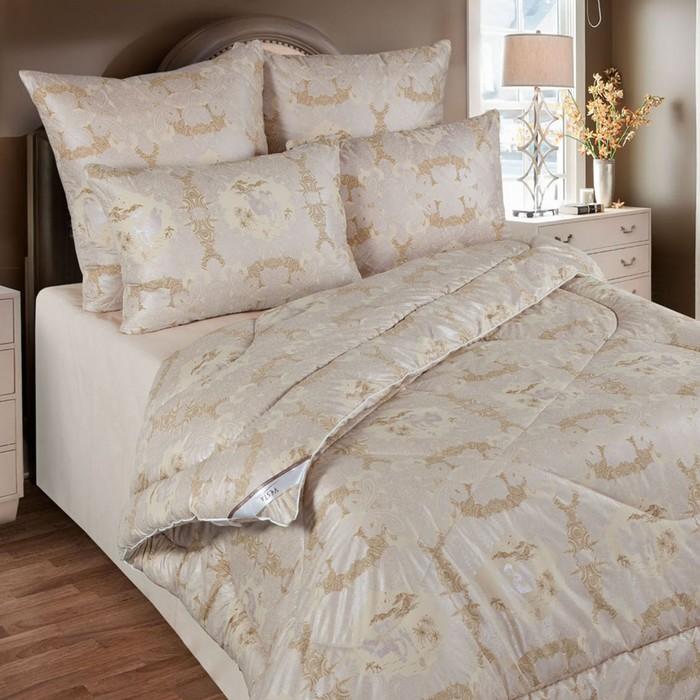 Одеяло облегченное 140х205 см, шерсть верблюда, ткань глосс-сатин, п/э 100%