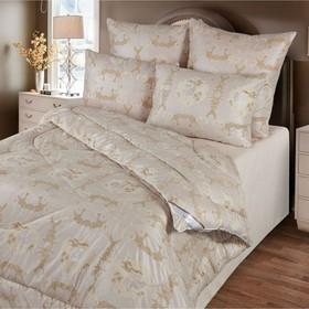 Одеяло зимнее 172х205 см, шерсть верблюда, ткань глосс-сатин, п/э 100% - фото 61710