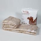 Одеяло зимнее 172х205 см, шерсть верблюда, ткань глосс-сатин, п/э 100% - фото 61711