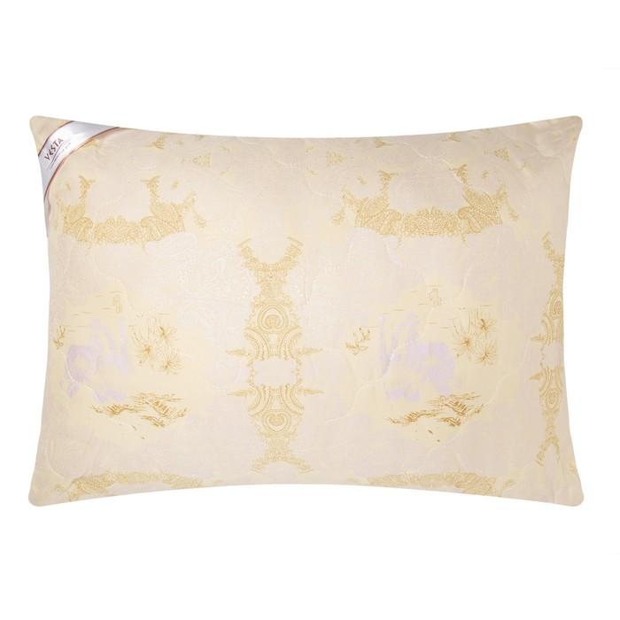 Подушка стёганная 50х70 см, шерсть верблюда, ткань глосс-сатин, п/э 100%