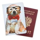 """Обложка для паспорта """"Щеночек с бабочкой"""""""