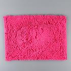 """Коврик для ванной """"Букли"""", цвет розовый"""