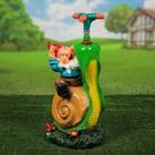 Садовая фигура-Поливалка  «Гном на улитке»