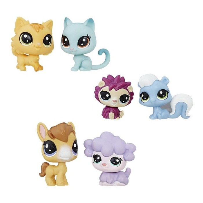 Фигурка питомца Littlest Pet Shop, 2 шт, МИКС