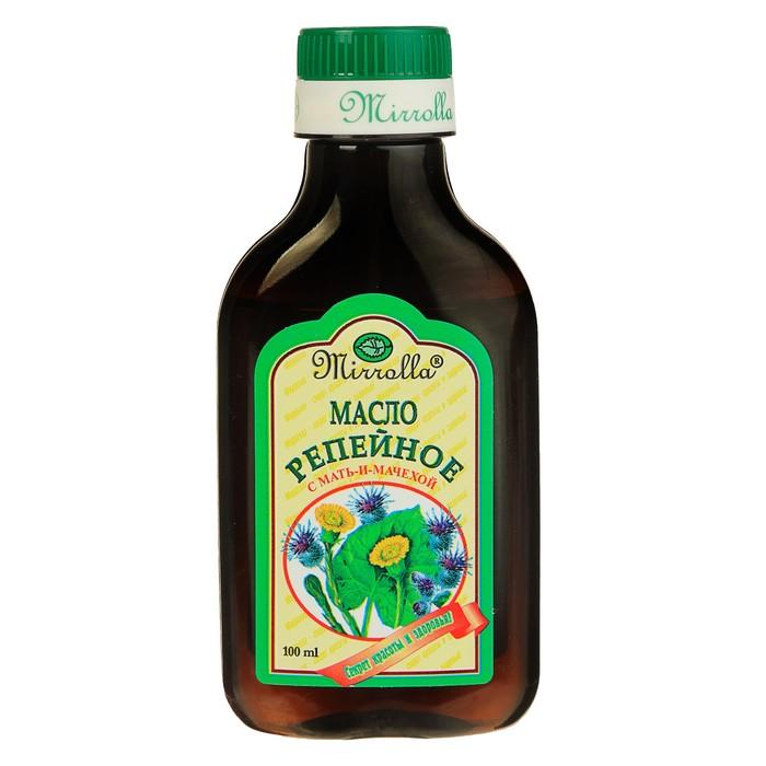 Репейное масло Mirrolla с Мать-и-Мачехой, 100 мл