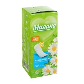 Прокладки ежедневные «Милана» Classic Deo Soft Травы, 20 шт/уп Ош