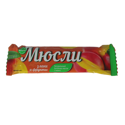 Батончик Effort muesli манго и злаки 40 г