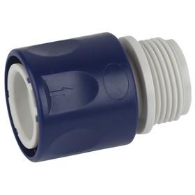 """Коннектор с внешней резьбой, 3/4"""" (19 мм), пластик"""