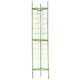 Опора для томатов, с сеткой, 90 × 120 см, зелёная