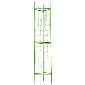 Опора для томатов, с сеткой, 90 × 150 см, зелёная
