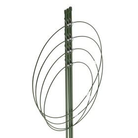 Поддержка для цветов, 4 кольца, h = 90 см, зелёная
