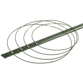 Поддержка для цветов, 4 кольца, h = 120 см, зелёная