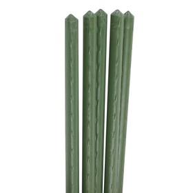 Колышек для подвязки растений, h = 90 см, d = 0.8 см, набор 5 шт., металл в пластике