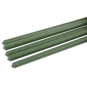 Колышек для подвязки растений, h = 120 см, d = 0,8 см, набор 5 шт., металл в пластике