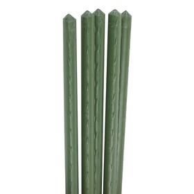 Колышек для подвязки растений, h = 75 см, d = 1,1 см, набор 5 шт., металл в пластике