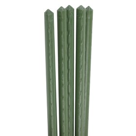 Колышек для подвязки растений, h = 90 см, d = 1,1 см, набор 5 шт., металл в пластике