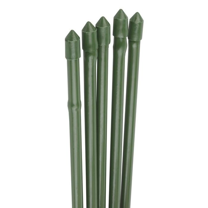 Колышек для подвязки растений, h = 60 см, d = 0,8 см, набор 5 шт., металл в пластике, «Бамбук»