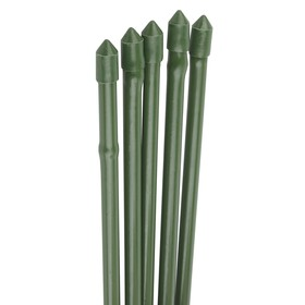 Колышек для подвязки растений, h = 90 см, d = 1.1 см, набор 5 шт., металл в пластике, «Бамбук»