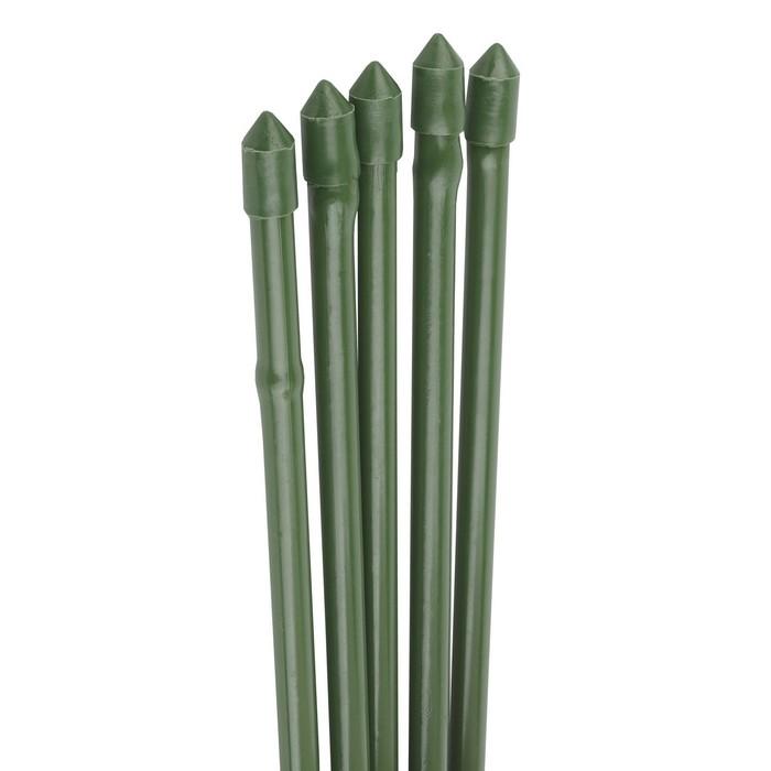 Колышек для подвязки растений, h = 150 см, d = 1,1 см, набор 5 шт., металл в пластике, «Бамбук»